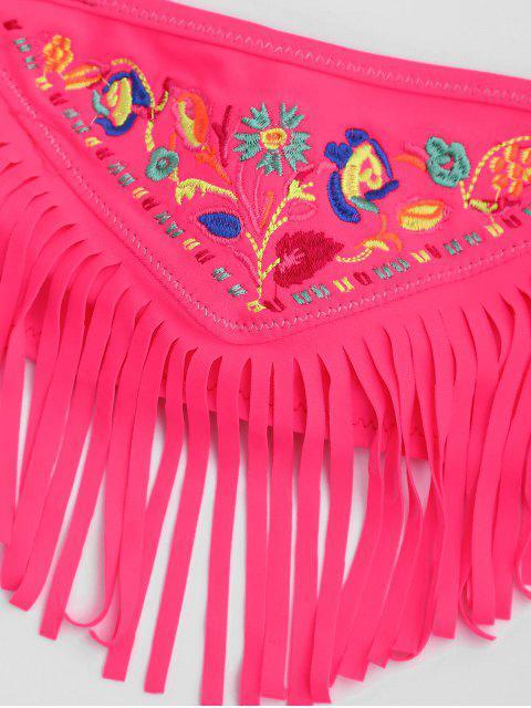 womens Tie Side Embroidered Fringes Kid Bikini - TUTTI FRUTTI 8T Mobile