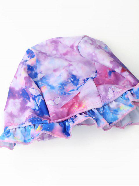 best Bowknot Tie Dye Skirted Kid Bikini - COLORMIX 6T Mobile
