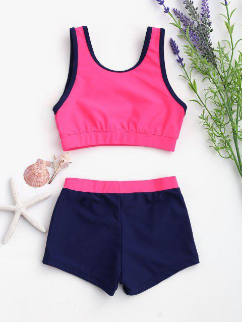 women's Color Block Scoop Kid Bikini - BLUE AND PINK 5T Mobile