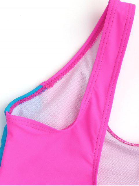 affordable Back Low Cut Two Tone Kid Swimwear - TUTTI FRUTTI 5T Mobile