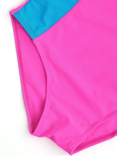 womens Back Low Cut Two Tone Kid Swimwear - TUTTI FRUTTI 7T Mobile