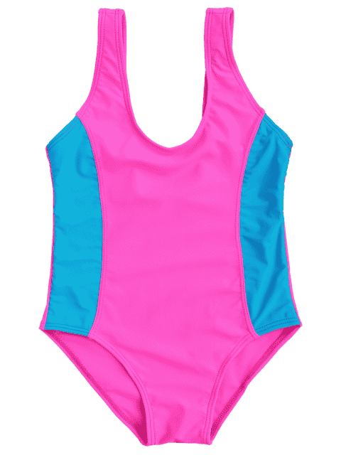 women Back Low Cut Two Tone Kid Swimwear - TUTTI FRUTTI 8T Mobile
