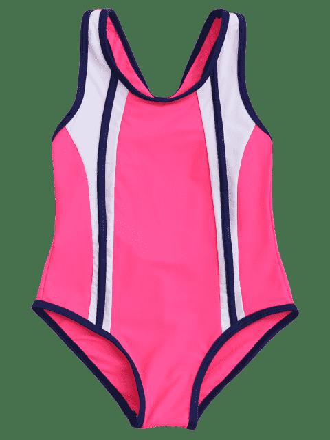 shop Back Cut Out Tricolor Scoop Kid Swimwear - TUTTI FRUTTI 6T Mobile