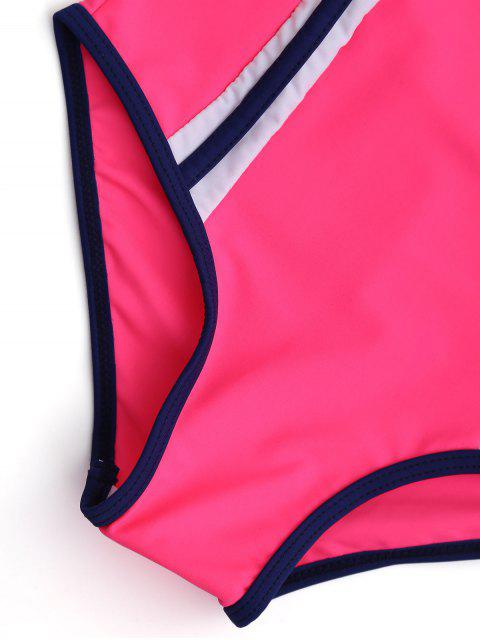 shops Back Cut Out Tricolor Scoop Kid Swimwear - TUTTI FRUTTI 7T Mobile