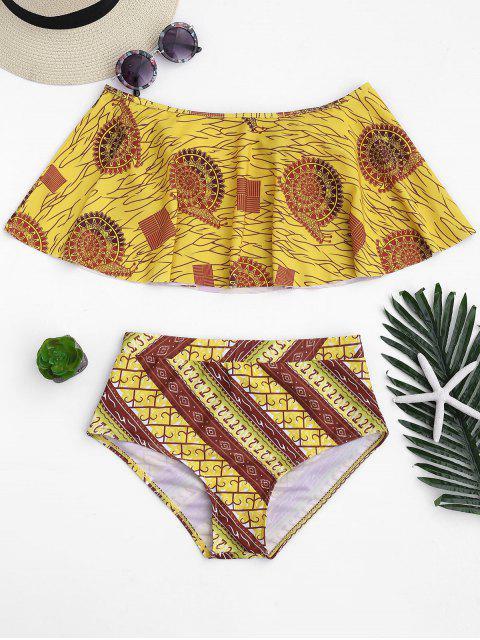 best Overlay Off Shoulder High Waisted Bikini - GINGER S Mobile