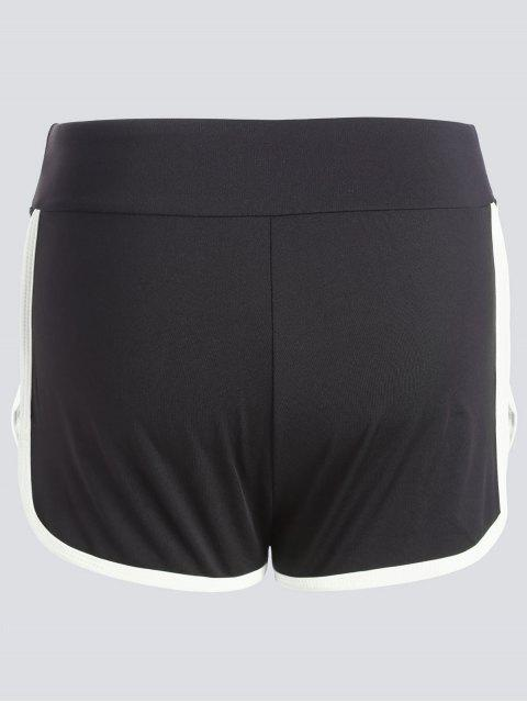 Stripe Trim Sports Shorts - Blanc M Mobile