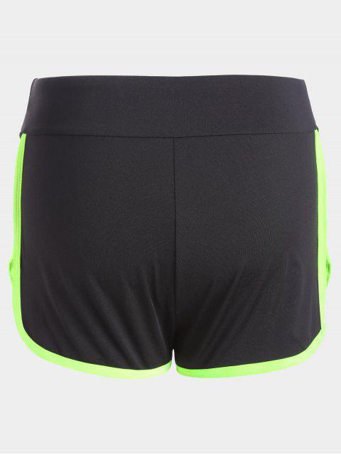 Stripe Trim Sports Shorts - Fluorescente Verte L Mobile