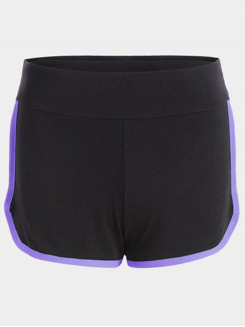 Stripe Trim Sports Shorts - Pourpre M Mobile