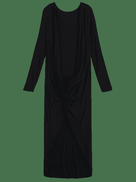 shop Twist Front High Low Top - BLACK S Mobile