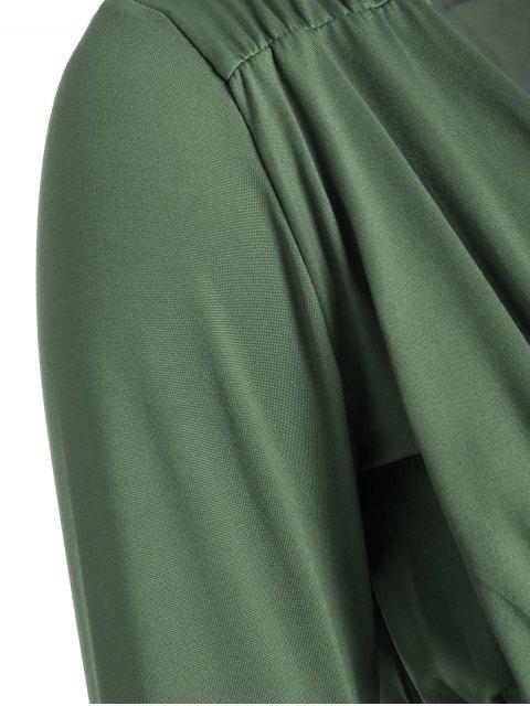 T-shirt manches courtes à col plombé - Pois Verts L Mobile