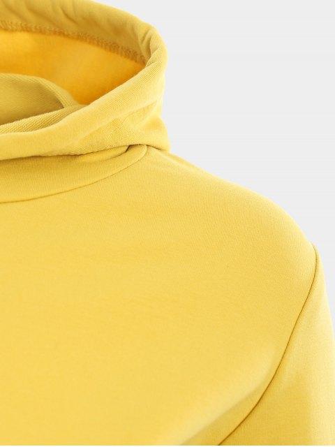 Sweat à capuche sport à manches courtes - Jaune S Mobile