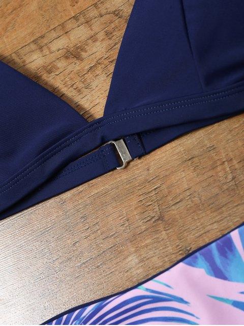 new Reversible Bikini Set with Palm Leaf Print - COLORMIX S Mobile