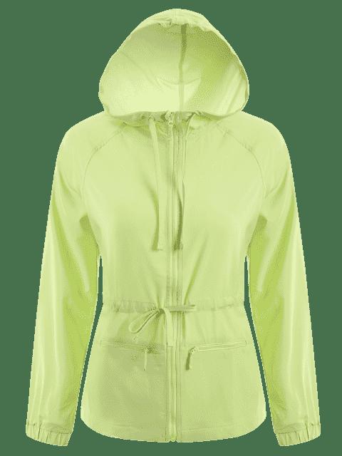 Veste de sport à capuche à capuchon à bout - Vert M Mobile