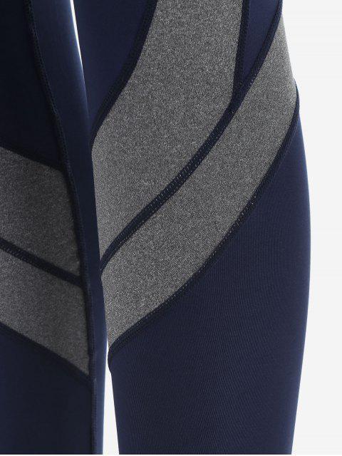 new Two Tone Active Yoga Leggings - PURPLISH BLUE S Mobile