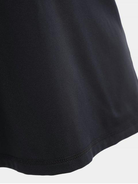 shops Scoop Back Cut Out Sports Top - BLACK M Mobile