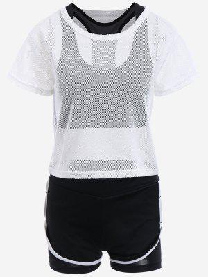 Costume De Sport à Trois Pièces En Mailles - Blanc S