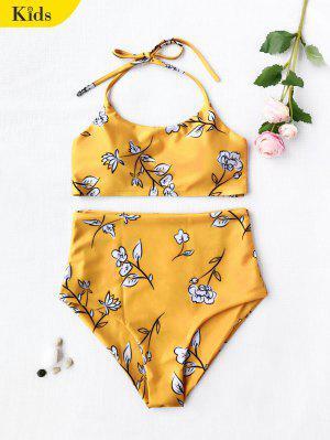 Ensemble de bikini pour enfants à bas prix floral Halter