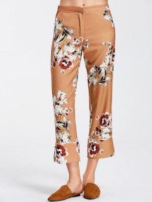 Floral Boot Cut Ninth Pants - Floral L