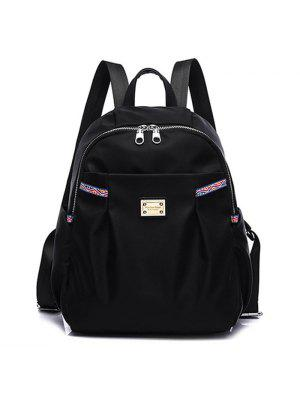 Ethnic Trim Nylon Backpack