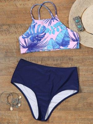 Pintado A Mano Palm Leaf Recortado Top Bikini - 2xl