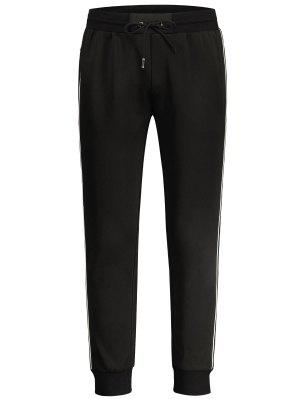 Drawstring Contrast Stripe Jogger Pants