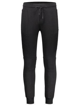Pantalones con tirantes laterales acanalados