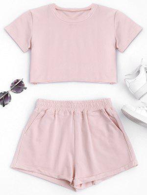 Costume En Coton Et Culotte - Rose PÂle M