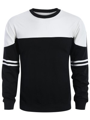 Sweat-shirt Homme à Deux Tons