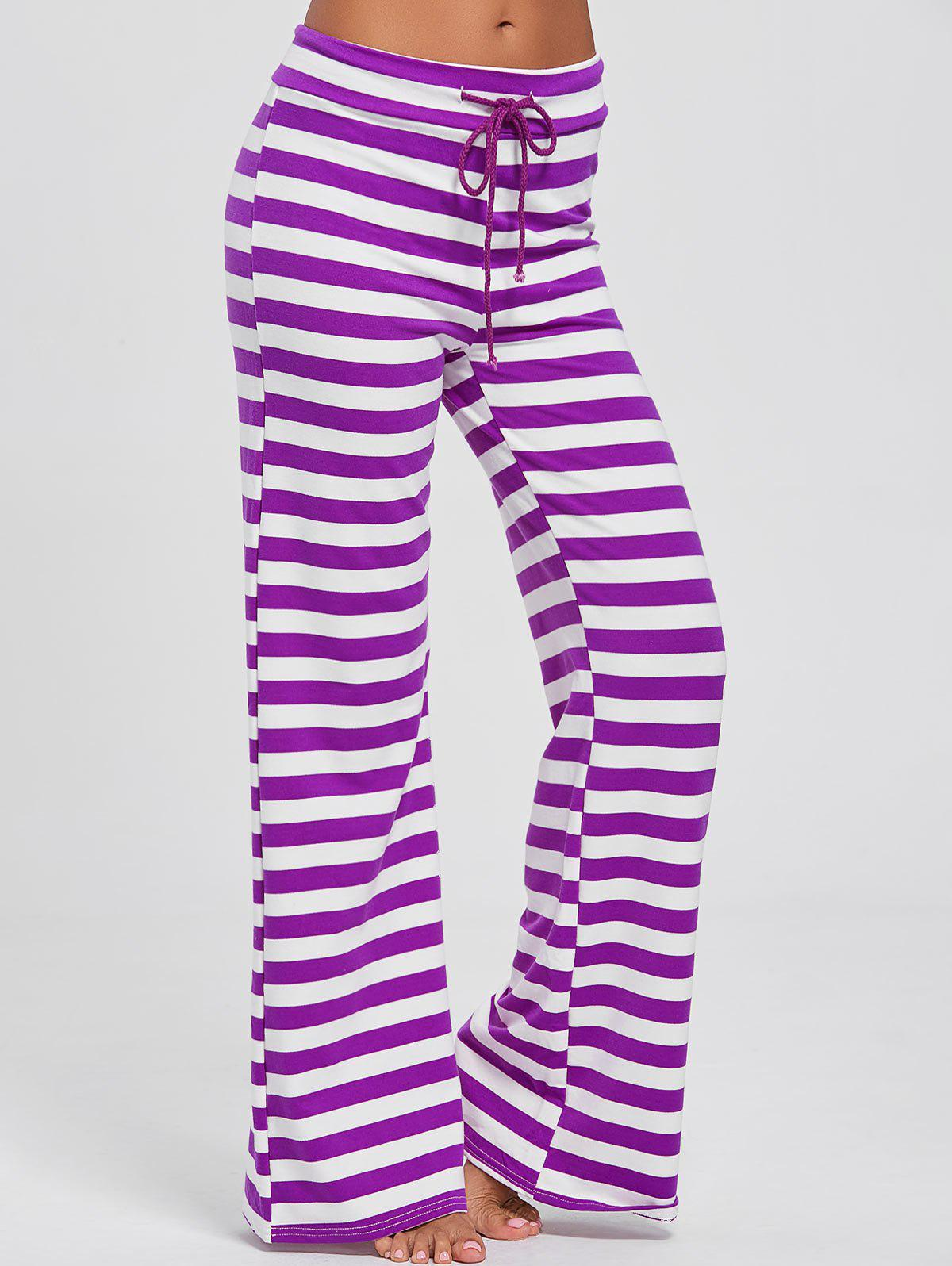 Pantalons larges à rayures
