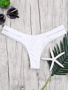 Bandage Découpé En Bas De Bikini - Blanc S