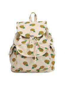 Fruit Print Canvas Backpack - Palomino