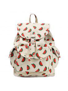 الفاكهة طباعة قماش ظهره - أحمر
