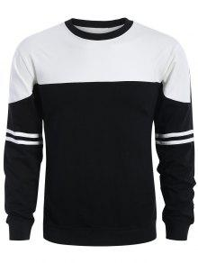 Mens Two Tone Sweatshirt - White And Black L