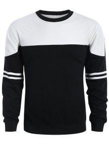 Camiseta Para Hombre De Dos Tonos - Blanco Y Negro M