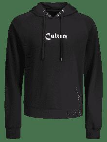 Culture Grommet Graphic Hoodie Negro L nvzvPY