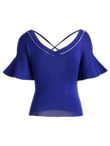 Camiseta Azul Con Cruz Punto Criss De rnrCqxz