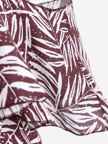 Fr Print Hombro De Dark Red Blusa De Cami Leaves 237;o a7Yqda