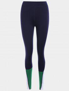 سروال ليغنز رياضي بنمط كتل الألوان - الأرجواني الأزرق M