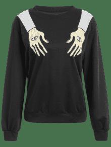 Los Los De Gr Algod Ojos Negro 225;ficos Camiseta Del 243;n De S La Mano De 1qw4nI5n8