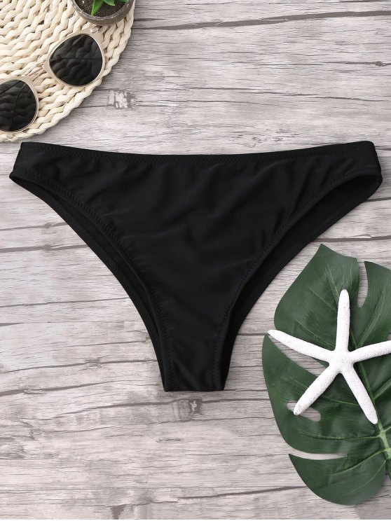 fashion Cheeky Bikini Bottoms - BLACK L