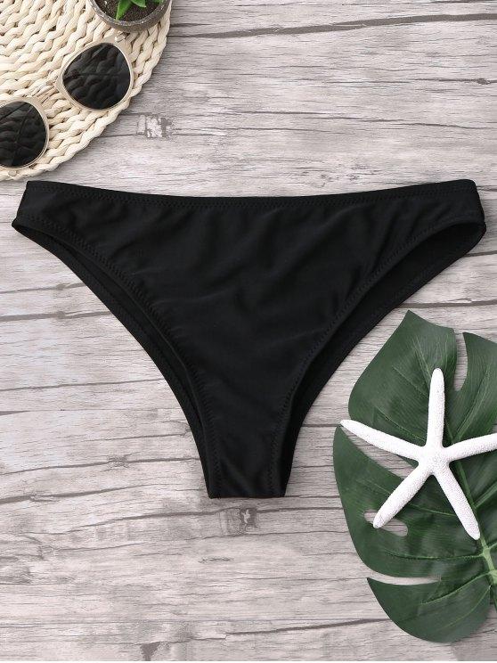 fancy Cheeky Bikini Bottoms - BLACK S