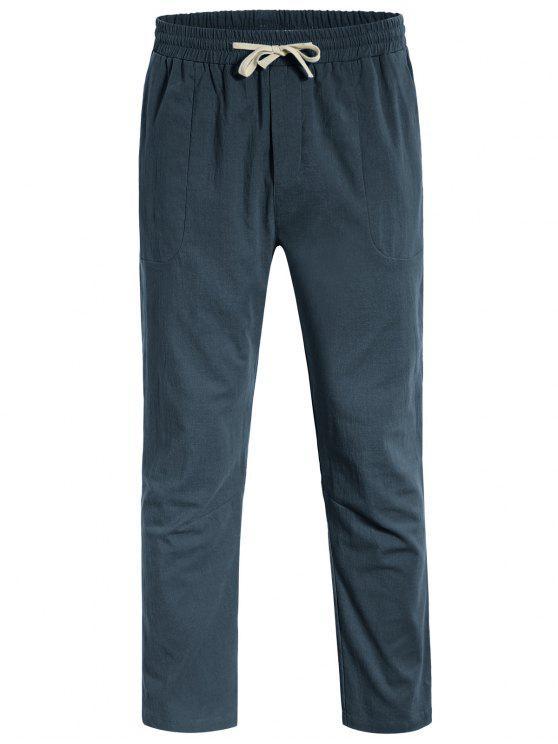 Casual Pockets Drawstring Pants - Atlantis 2XL