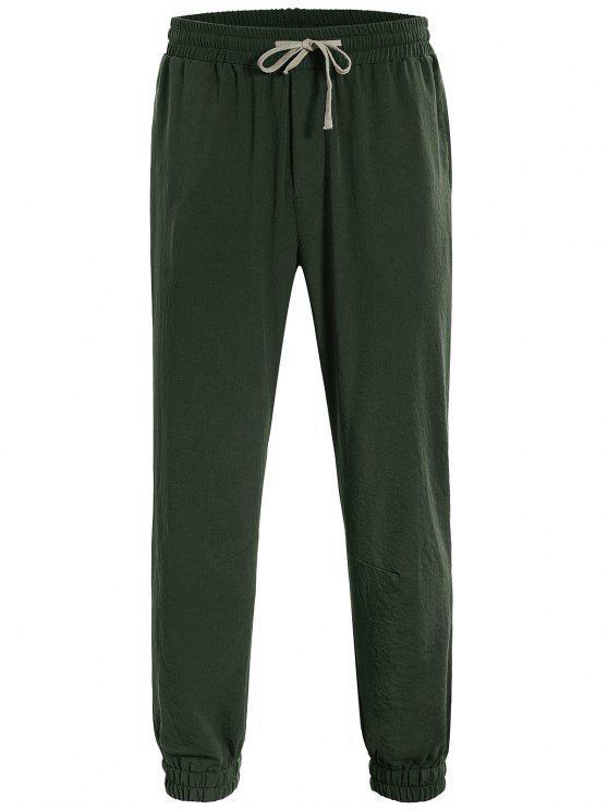 fashion Men Drawstring Jogger Pants - ARMY GREEN L