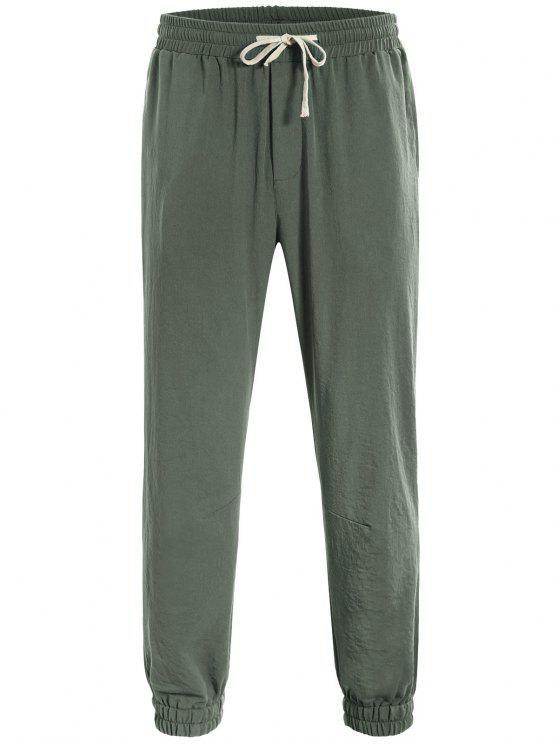 affordable Men Drawstring Jogger Pants - LIGHT GREEN L