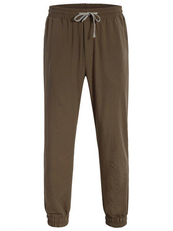 best Men Drawstring Jogger Pants - COFFEE 3XL