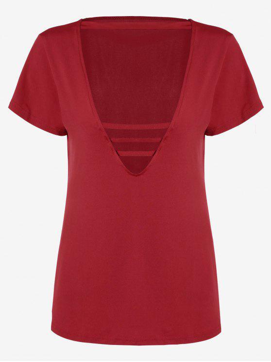 Cuello de algodón - Rojo S