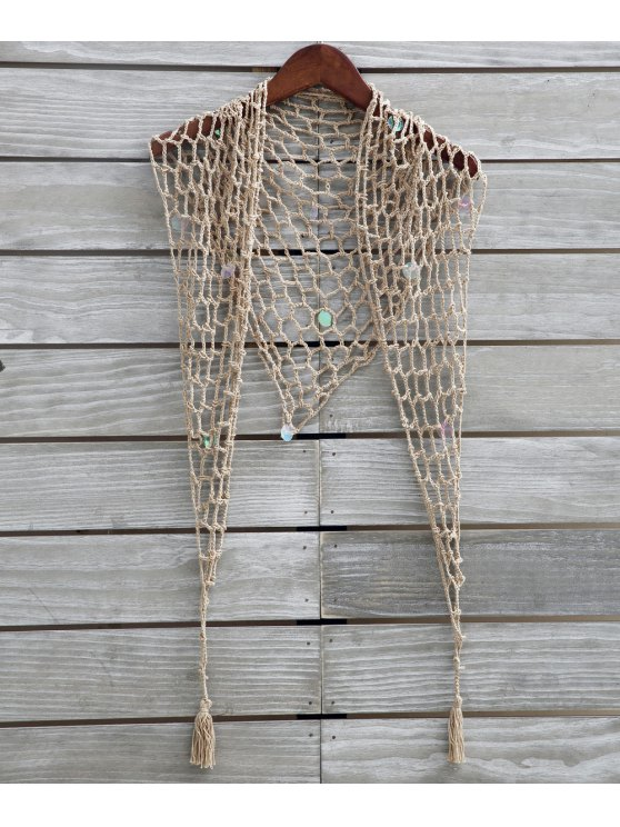 Sarraceno de lentejuela - Caqui Única Talla