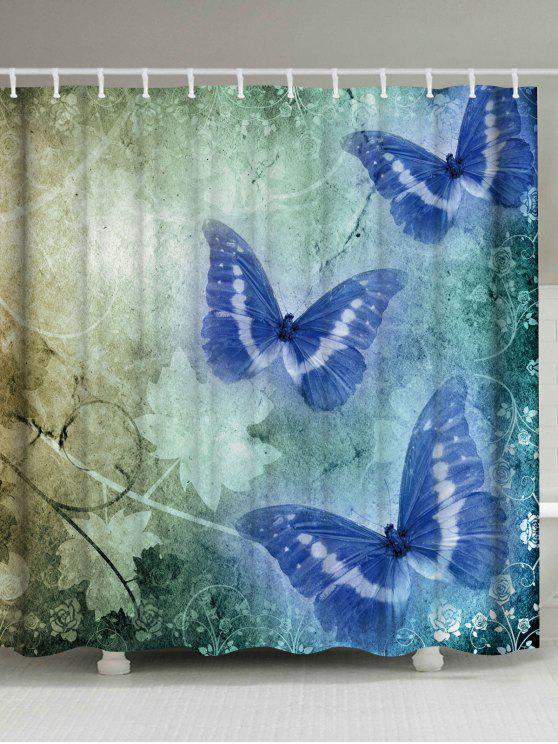 Vintage Butterfly Bathroom Decor Shower Curtain