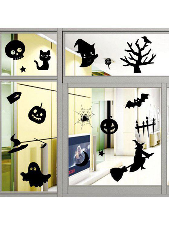 هالوين الديكور دي ملصقات الحائط - أسود