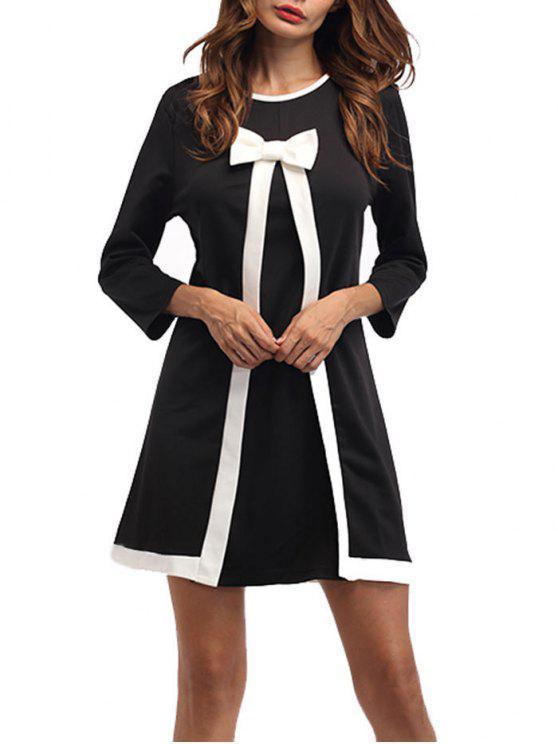 فستان رسمي مستقيم مصغر بونوت - أسود L